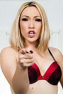 Красивый анальный секс стройной блондинки в чулках с парнем #1
