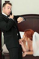 Симпатичная девушка с большой задницей трахается в пизду перед свадьбой #2