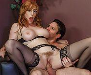 Жаркий секс со стройной рыжеволосой секретаршей - 4