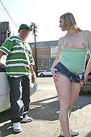 Секс на публике с молодой блондинкой с большой жопой #5