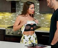 Страстный секс привлекательной телки с чуваком на кухне - 3