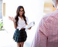 Горячий трах с красивой молоденькой азиатской школьницей - 1