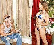 Смотреть жаркий секс сексуальной блондинки со своим мужем - 1