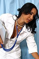 Горячий секс пациента с пышной латинской медсестрой в чулках #5