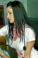Смотреть красивый секс с брюнеткой в униформе с шикарной попкой #5