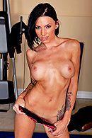 Красивый секс черноволосой латинки с татуировками и большими сиськами #4
