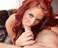 Вагинальный секс с сексуальной грудастой женщиной с рыжими волосами - 4
