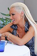 Страстный секс с привлекательной блондинкой в чулках #5