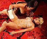 Красивый трах лесбиянок с секс игрушками - 3