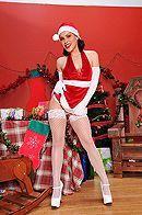 Анальный секс с красоткой в рождественской униформе #1
