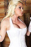 Страстный секс разбойника с сексуальной блондинкой в чулках #5