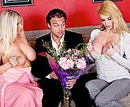 Анальный секс с грудастыми зрелыми блондинками - 1