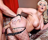 Анальный трах зрелой блонды с большими сиськами - 3