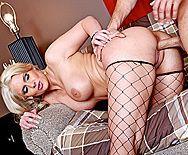 Анальный трах зрелой блонды с большими сиськами - 4