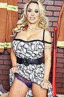 Двойное проникновение в раздевалке с жадной пышногрудой блондинкой #1
