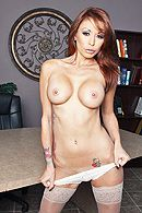 Секс начальника с рыженькой проституткой в офисе #4