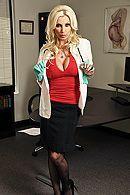 Красивый секс в офисе с горячей зрелой блондинкой #1