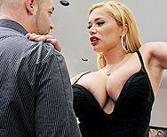 Анальный секс молодого парня с пышной зрелой блондинкой - 1