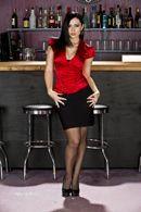 Вагинальный секс на баре с очень красивой брюнеткой в чулках #1