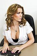 Жесткий секс в офисе с красивой блондинкой с упругими сиськами #5