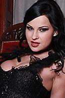 Жесткий секс с привлекательной брюнеткой в эротическом белье #2