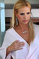 Смотреть порно со зрелой мамашкой на кухне #5