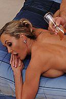 Нежный секс массажиста со взрослой блондинкой после массажа #5