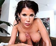 Красивый секс после нежного массажа с молоденькой брюнеткой - 2