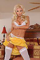 Яркий анальный секс с ненасытной блондинкой в белых чулках #4