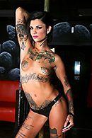 Жесткий секс со стриптизершей в татуировках #4