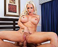 Горячий анальный секс с озорной пышной блондинкой - 4