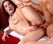 Анальный секс с рыженькой красоткой после массажа - 5