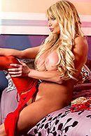 Красивый секс зрелой блондинки в красном белье с молодым парнем #2