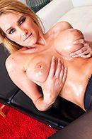 Анальный секс с блондинкой в чулках после массажа #4