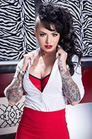Анал с худенькой татуированной брюнеткой с большими сиськами #1