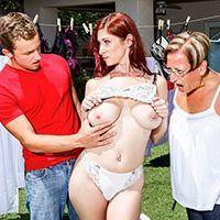 Горячее порно с опытной рыжей женщиной