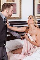 Шикарный секс лысого с пышногрудой блондинкой в возрасте #2