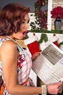 Порно рыжей женщины с Сантой #2