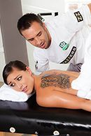 Нежный секс после эротического массажа с худенькой молодой брюнеткой #2