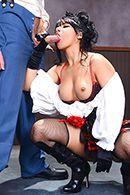 Жаркий секс с испанкой в униформе #3