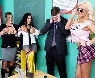 Порно препода с пышной привлекательной студенткой - 1