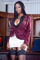 Межрасовый секс с пышной чернокожей секретаршей #1