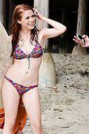 Порно с рыжей серфингисткой на пляже у моря #2