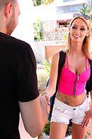 Смотреть секс стройной блондинки с большими сиськами #2