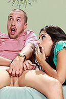 Жесткий и межрасовый секс втроем с сексуальными брюнетками в анал #3