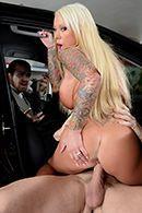 Жесткий секс на парковке с сисястой блондинкой #5