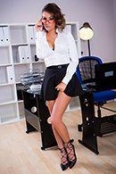Секс привлекательной секретарши с работником офиса #1