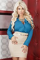 Горячее порно с пышногрудой блондинкой в лифте #1