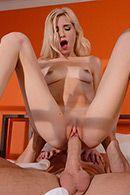 Нежный утренний секс со стройной блондинкой #5