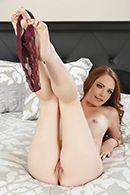 Красивое порно с нежной рыжей красоткой #5